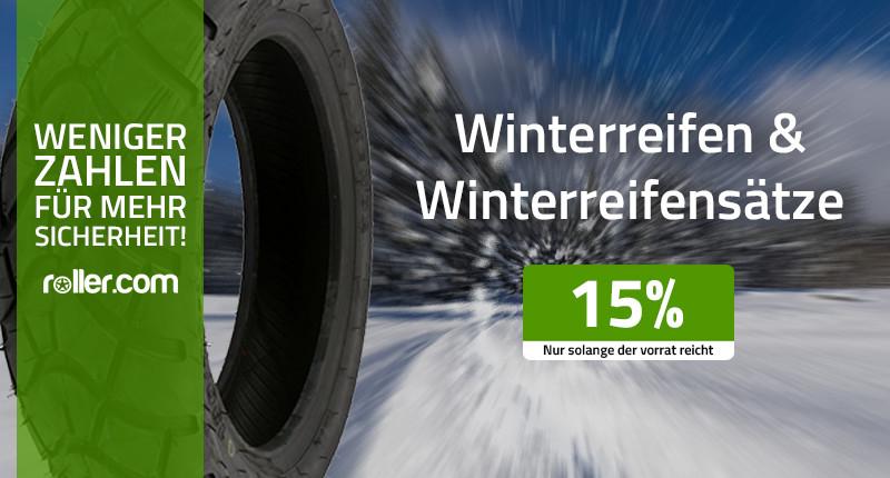 Winterreifen 15% günstiger