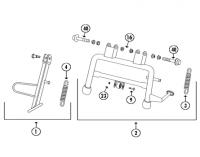Topdrive 50 4T AC Hauptständer und Seitenständer für Flex-Tech Topdrive