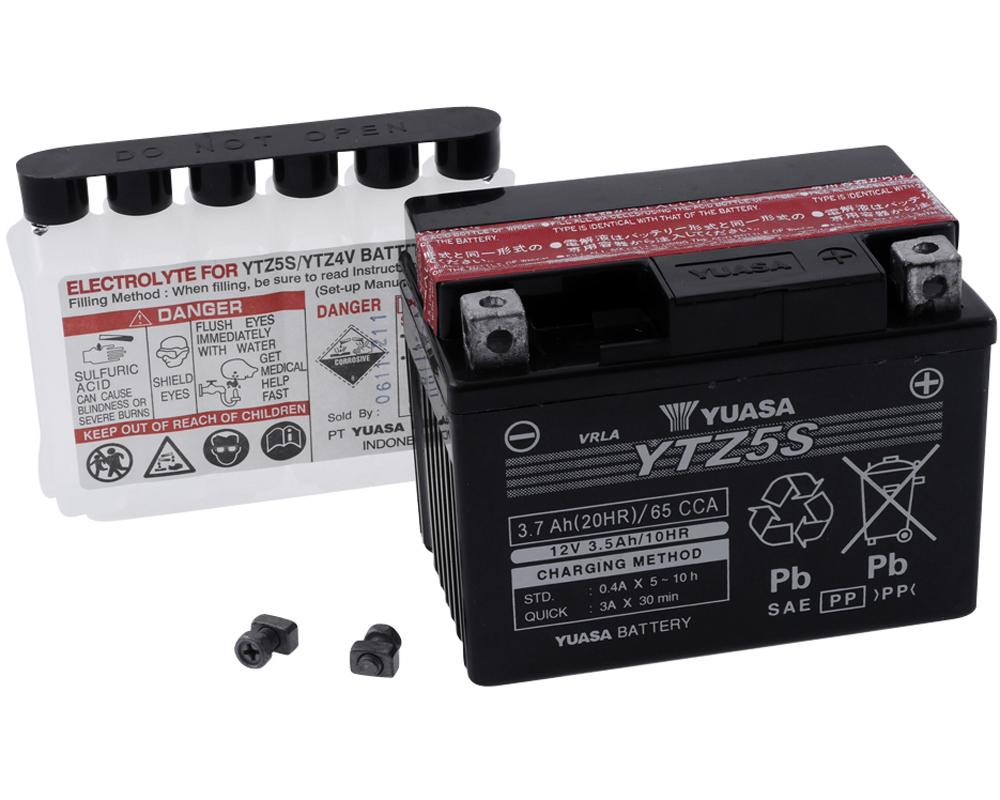 12 Volt Batterie 5AH wartungsfrei inklusive 7,50 /€ Batteriepfand Jetforce 50 C-Tech