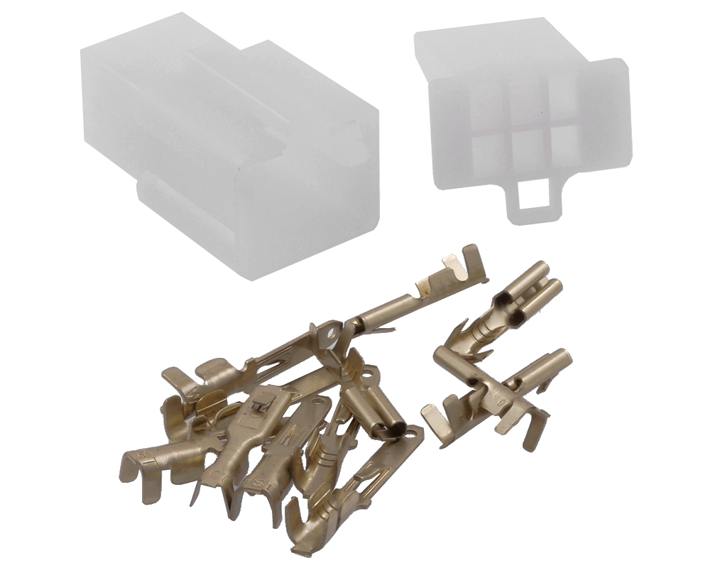 Kabelverbinder / Stecker Satz 6 Pin Roller, Moped, Mofa usw