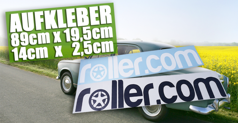 Rollercom Aufkleber für dein Auto oder Roller