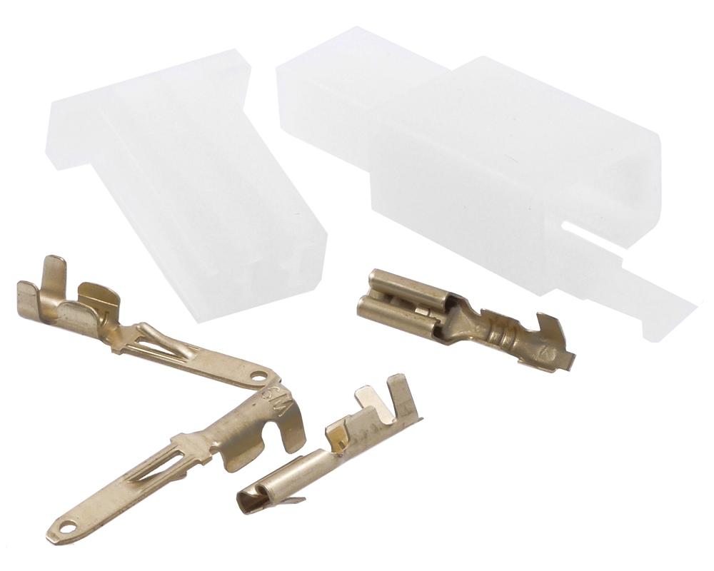Kabelverbinder / Stecker Satz 2 Pin Roller, Moped, Mofa usw