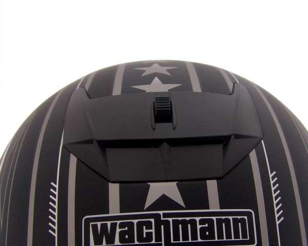 Integralhelm WACHMANN WA-20 Eques lila / weiss glänzend