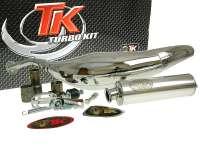 Auspuffanlage TURBOKIT Carreras 80 Chrom für Minarelli AM