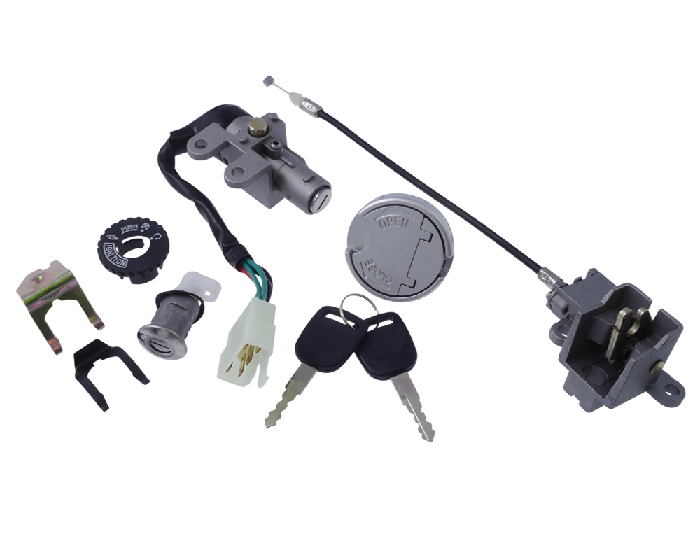 On Road Chinese Scooter TS50QT-8 4 Wire Ignition Switch /& Key Set SHIPS FROM USA