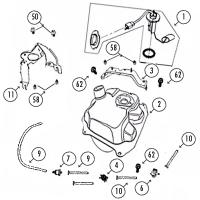 GMX450 Sport 4T AC Tank für Rex RS400, RS460, Monza, GMX 450 / Sport