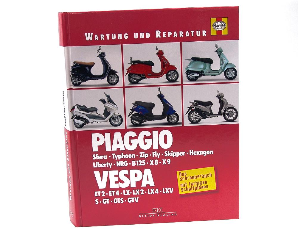Reparaturbuch PIAGGIO & VESPA �ber 400 Seiten