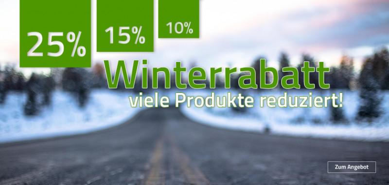% Winterrabatt %