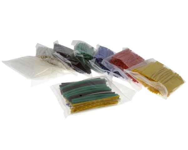 Schrumpfschlauch Sortiment 100 Stück verschiedene Farben
