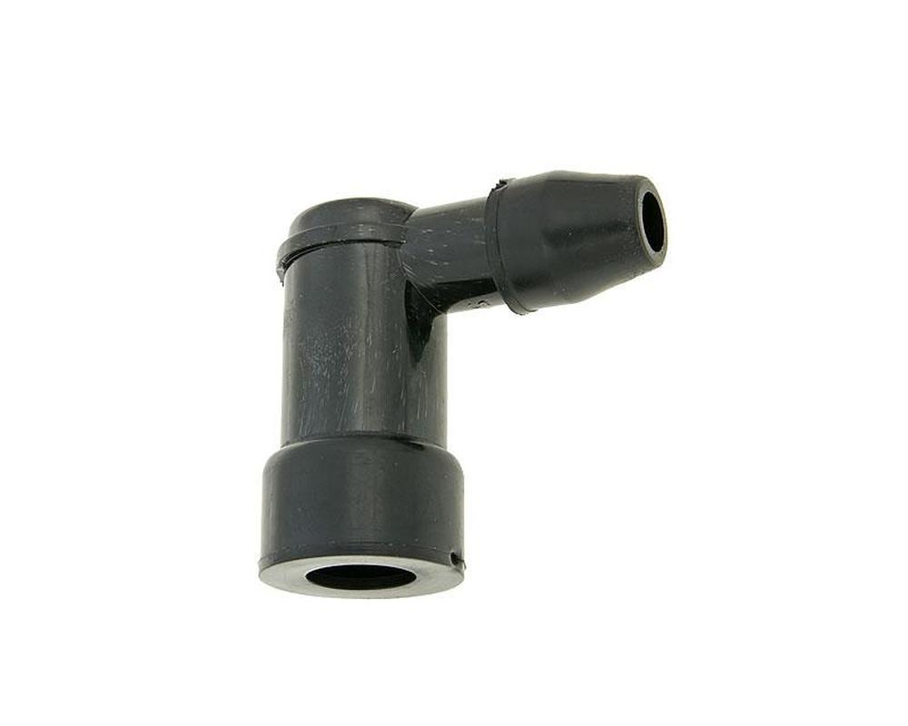 Z�ndkerzenstecker standard 90 Grad schwarz kurz