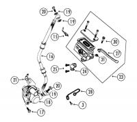 RS500 50 QM50QT-6 A Qingqi 4T AC Hydraulische Bremsanlage für Rex RS450, RS500, RS600
