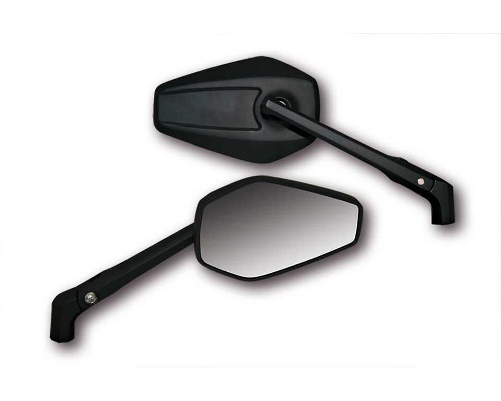 Spiegel booster 2 alu motorrad matt schwarz m10 1 for Spiegel extra