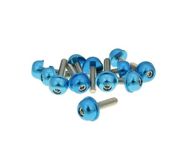 Schraubensatz 12 Stück Alu-Kappe - M5 20mm