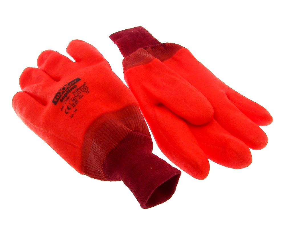 Arbeitshandschuhe Gr.10 PVC vollbeschichtet in orange gef�tt
