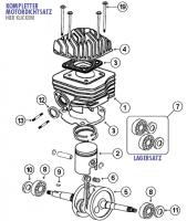Speedfight 2 50 E1 S1 2T AC -04 Kurbelwelle und Zylinder für Peugeot stehend AC