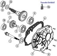 Speedfight 2 50 E2 S1 2T LC 04- Getriebe für Peugeot LC (wassergekühlt)