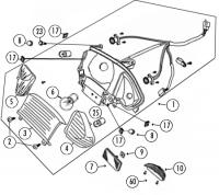 RS500 50 QM50QT-6 A Qingqi 4T AC Rücklicht Glühbirne für Rex RS400, RS450, RS500, QM50QT-6A