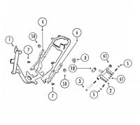 GMX450 Sport 4T AC Rahmen für Rex RS400, RS460, Monza, AGM GMX450 / Sport